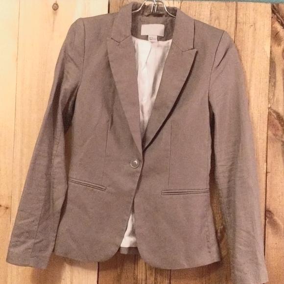 Grey fitted blazer